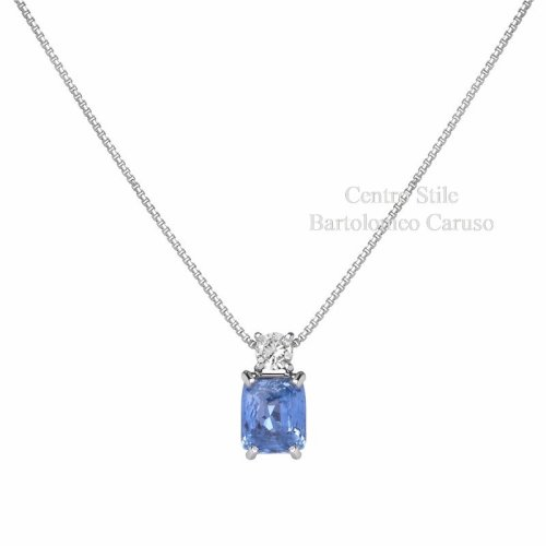 Collier Zaffiro e Diamante