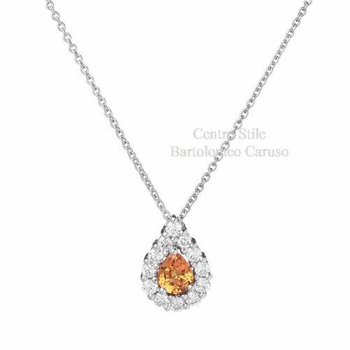 Collier Zaffiro Giallo e Diamanti